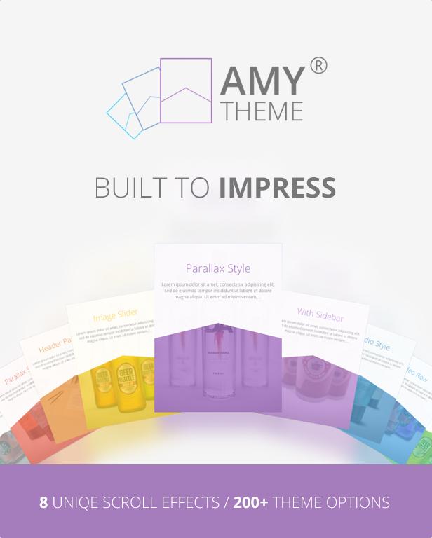 WordPress theme AMY Theme - Creative Multi-Purpose WordPress Theme (Creative)